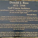 plaque on donald ross statue