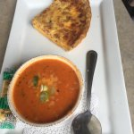 Quiche with Tomato and Basil Soup