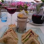 Tuna sandwiches and Sangria at the Blue Lagoon
