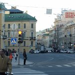 View from St Isaacs Square shows how close the Petro Palace is