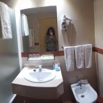 El wc bastante correcto. Limpio y funcional