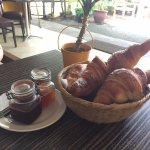 Croissants with home made jam