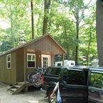 Basic camping cabin