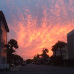 Great SUNSET - taken while walking back from the Tybee Is Pier to the Hotel