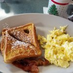 French toast with eggs and bacon special