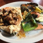 Hummus with Chicken with grilled veggies