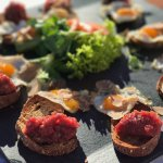 Beef tartare with quail eggs and white Alba truffles