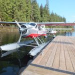 Our seaplane, after landing on the lake.