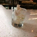 A $10++ drink POORLY served (that's my napkin I threw with disappointment)