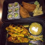 Love the chicken satay and the SUSHI!