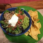 The best of the 3 meals.  a chicken burrito bowl