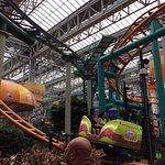 The indoor roller coaster.