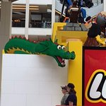 This dragon was made completely of legos.