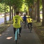 Biking through Paris
