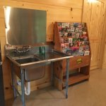 Nice sink in Laundry room to wash out dishes if tent camping