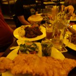 The schnitzel was enormous