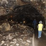 looking along the lava tube