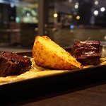 Short beef ribs and cornbread