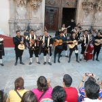 Guanajuato singers in front of church