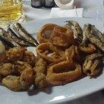 Mix sea food.