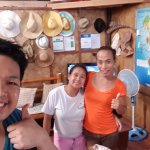 Ate Maricar and Ate Judy (left to right); Great staffs of the guesthouse. Regards to Ate Sol as