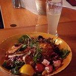 Halloumi Salad w Cloudy Apple Cider