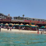 panoramic view of the restaurant from the water
