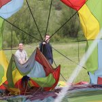 Derig of the balloon at the endof flight.