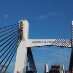 Bridge from airport to Downtown Cebu.
