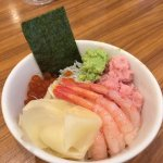 Sashimi is available at the buffet breakfast