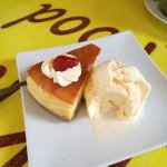 cheese cake and ice cream