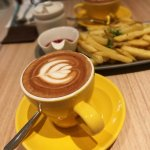 Cappuccino with a side of fries