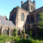 Chester Cathedral court yard.