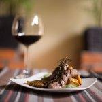 Lamb tenderloin marinated with virgin olive oil, roasted garlic & fresh rosemary