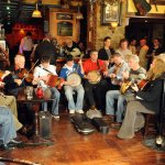 Top Irish Traditional Musicians play every night at live trad session. Craic & Ceoil