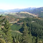 Sightseeing - looking westwards from Hanmer Springs - one and a half hours' drive away.