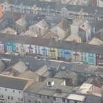 views of local houses from Blackpool tower.