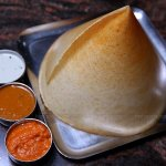 Masala Dosa with varieties of chammandhi, chutney and sambar, this dish does not have any compet