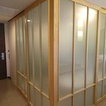 Sliding doors for privacy