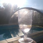 G&T by the pool in the evening sunshine