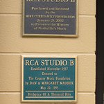 Plaques at the front door