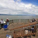 fishing pier near bridge