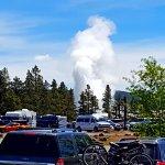 Old Faithful erupting !!!