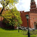 Entrando al Kremlin de Moscú