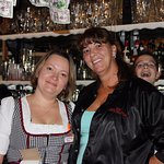 waitress with owner Anka