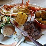 Steak and lobster, surf and turf