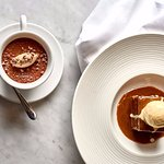 Dining at Brasserie Abode - Sticky toffee pudding
