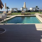 Looking out at the sea from the private pool rooms (2 personal loungers)