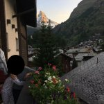 View from balcony. Matterhorn is right behind.