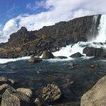 Beautiful waterfall at the park